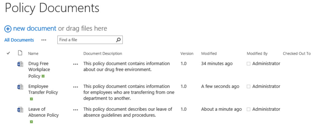 05.03.01 - Policy Documents Library